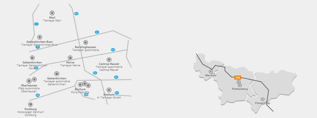 Unsere Standorte im Ruhrgebiet und im Sauerland